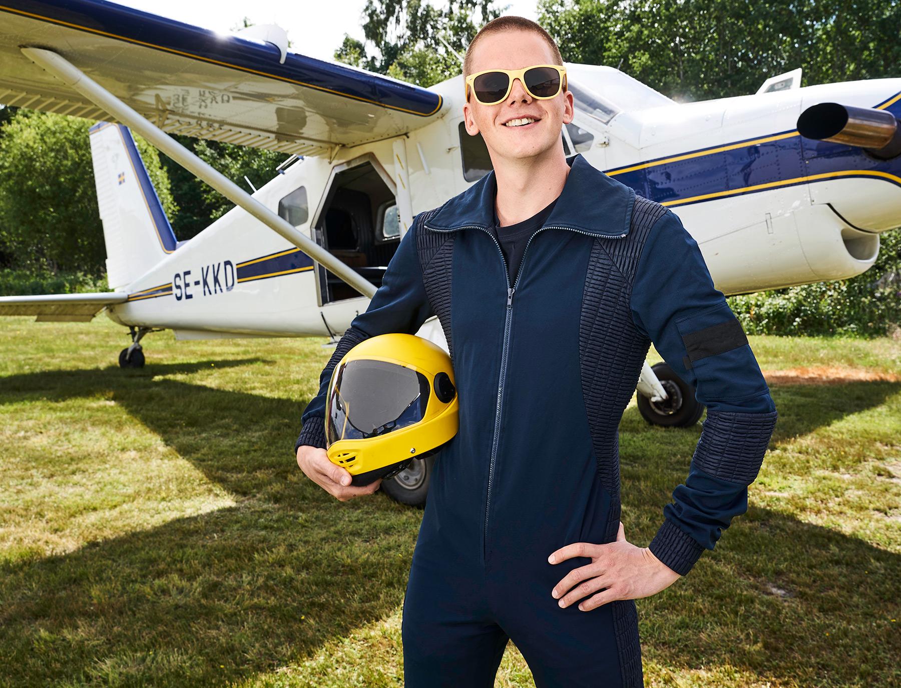piloten och flygplanet