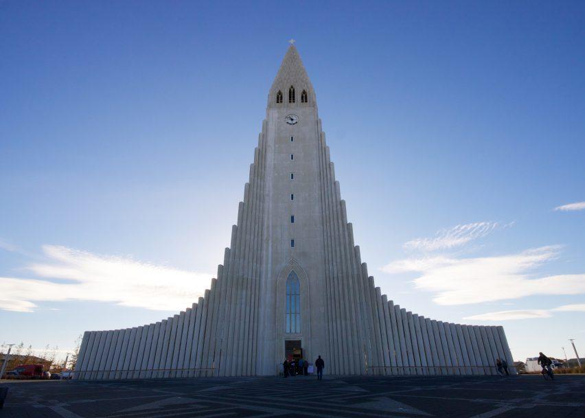 Hallgrímskirkja Church, Reykjavik.  Source:  dezeen.com