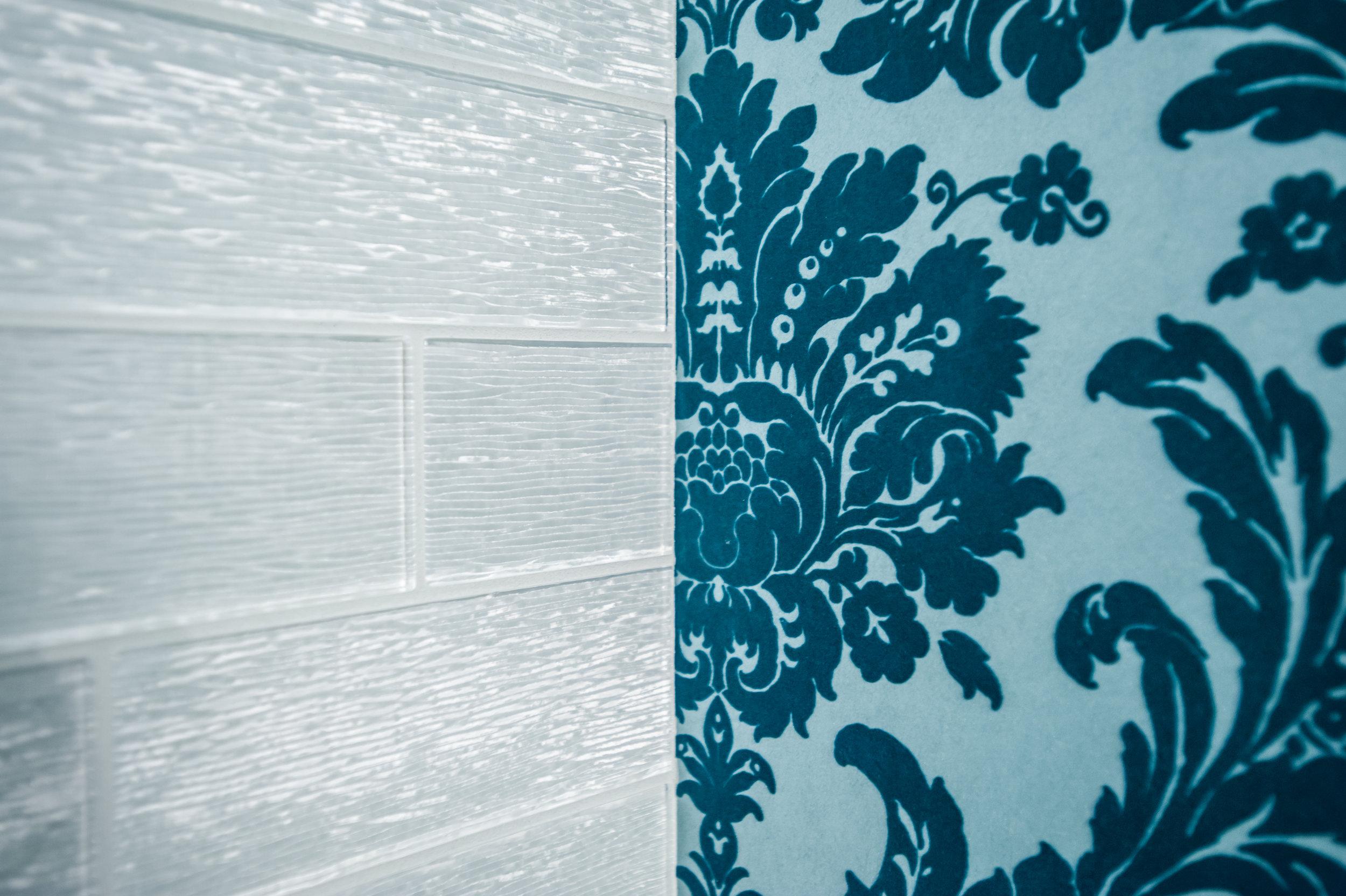wallpaper glass tile damask