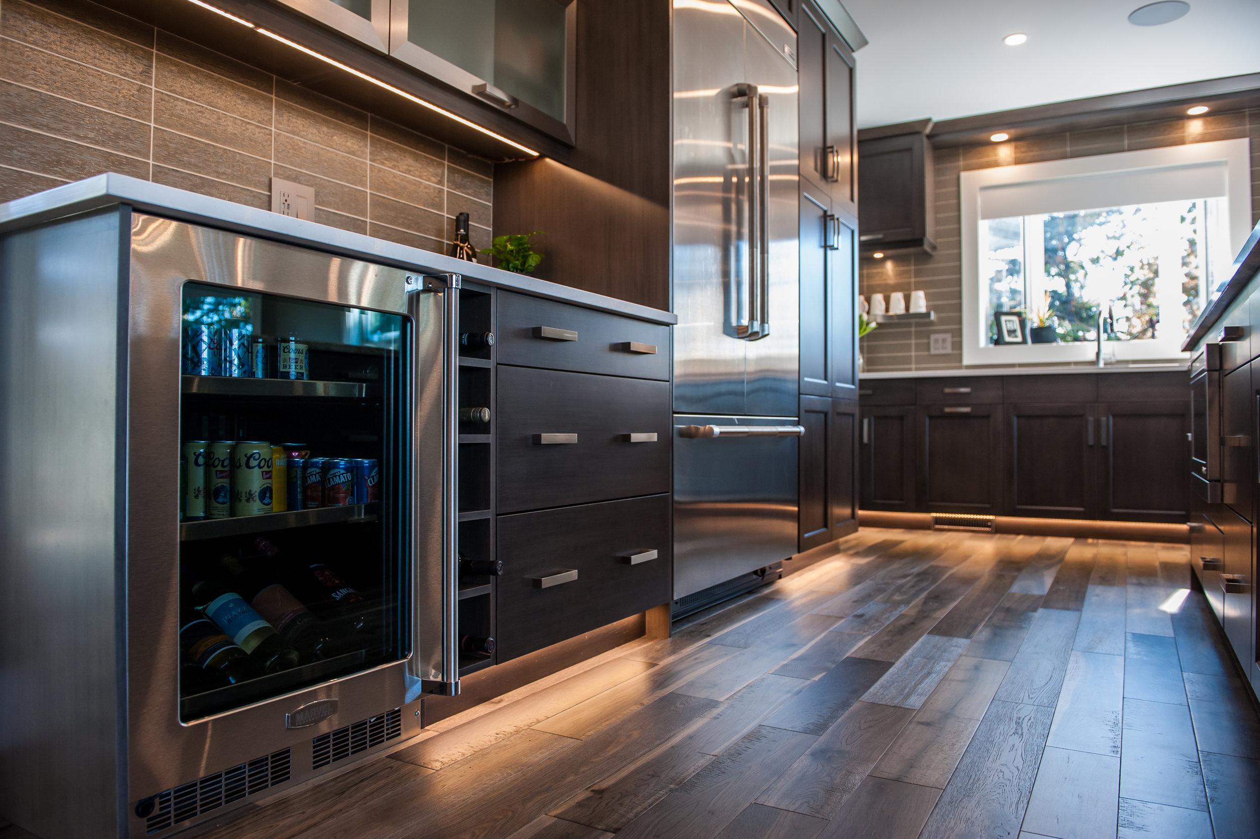 bar fridge kitchen
