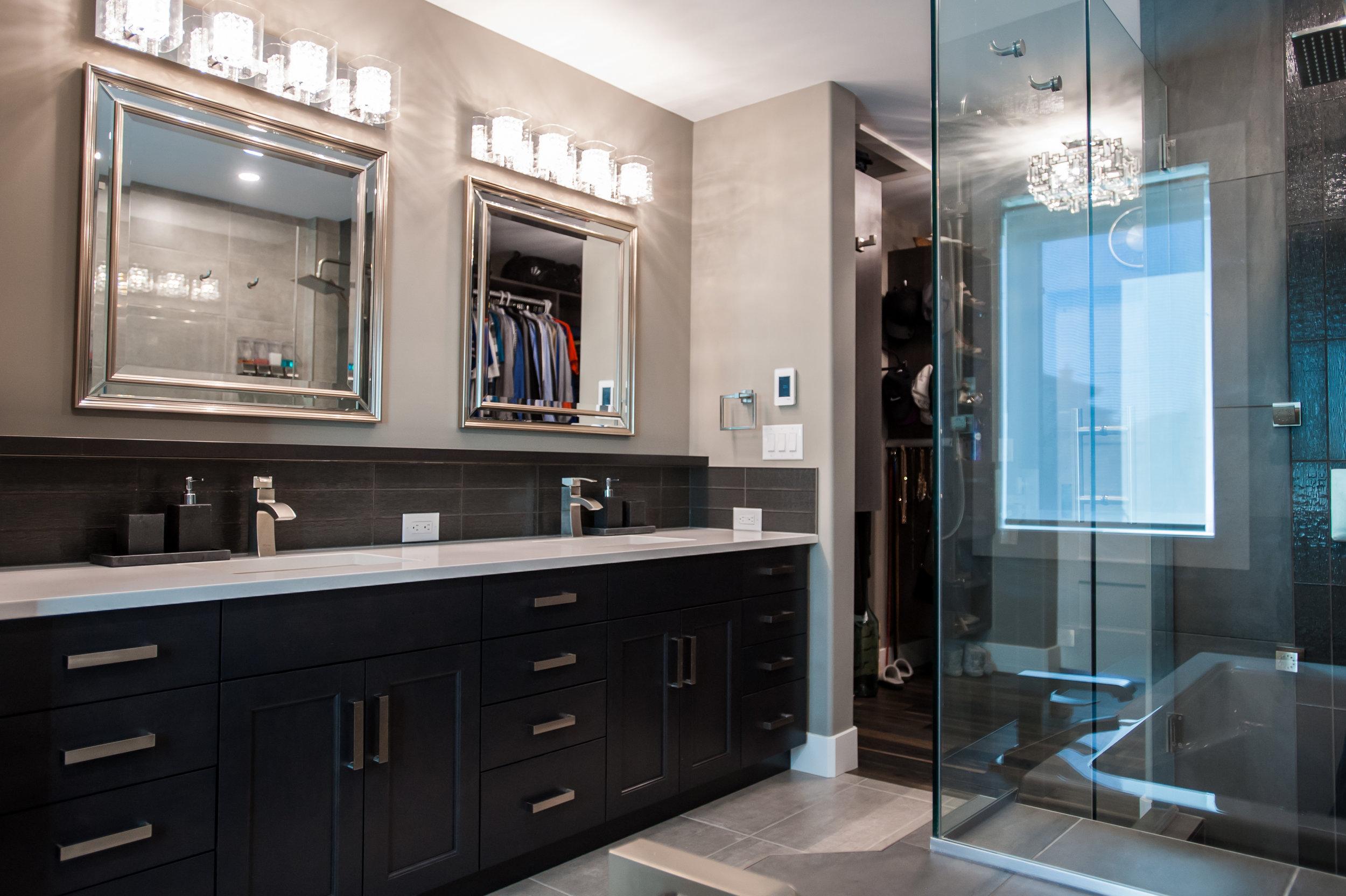 master bathroom walk-in