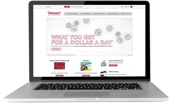 Website showing Insurance Awareness Month advertising