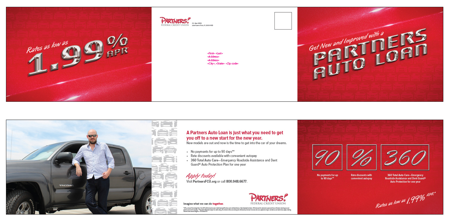 Self mailer for new vehicles - Mailer #1