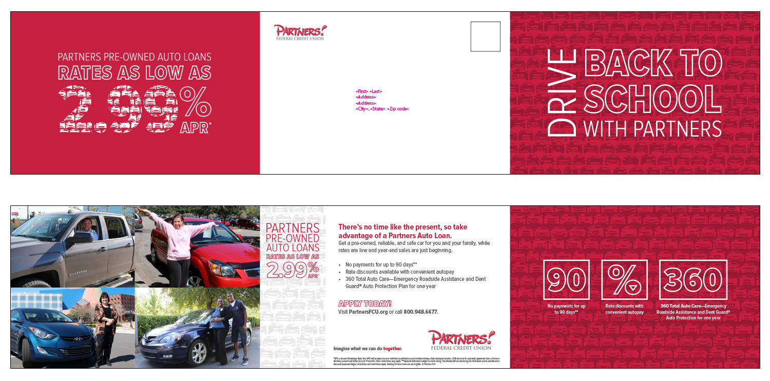 Self-mailer for pre-owned vehicles - Mailer #1