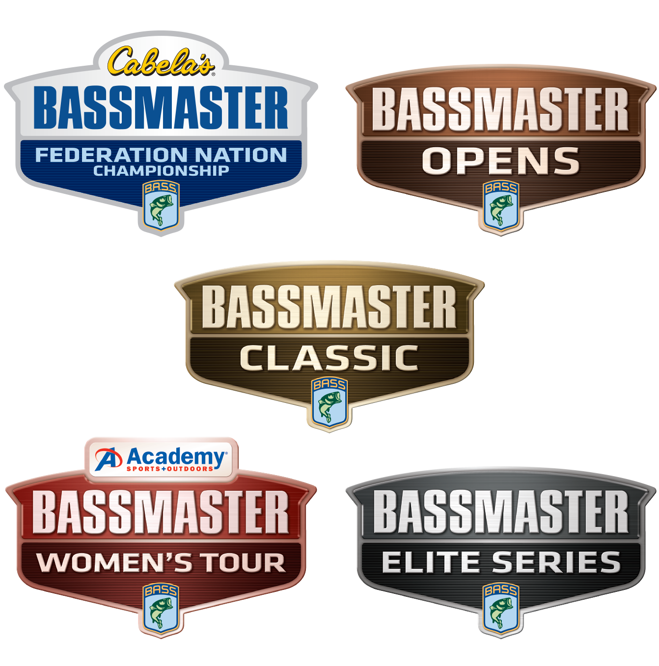 Bassmaster Tournament marks after brand refresh.