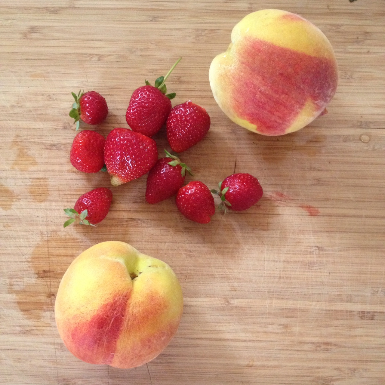 PEACHES & STRAWBERRIES GREW ABUNDANTLY THIS SUMMER