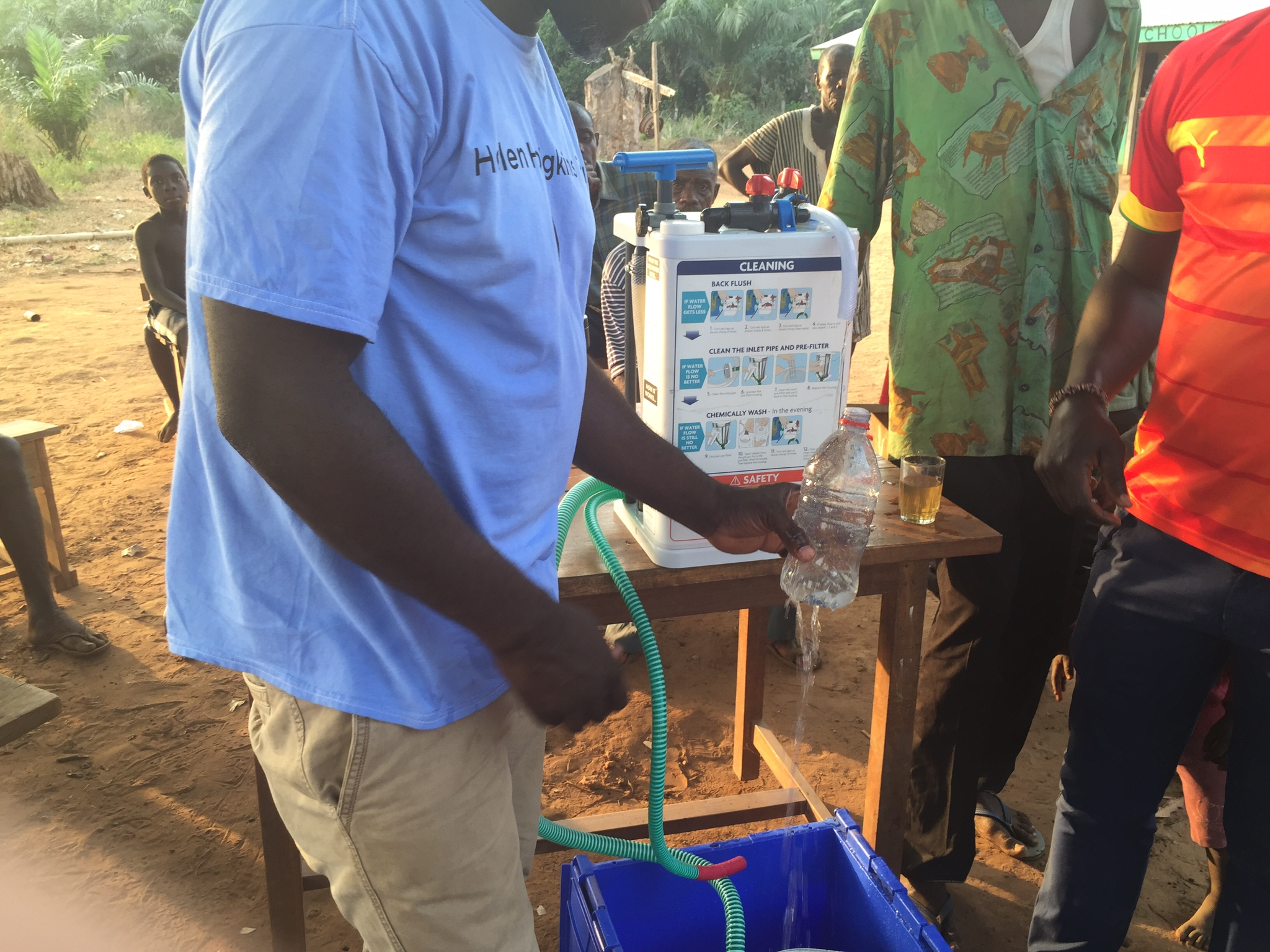 Clean, safe water from the filters