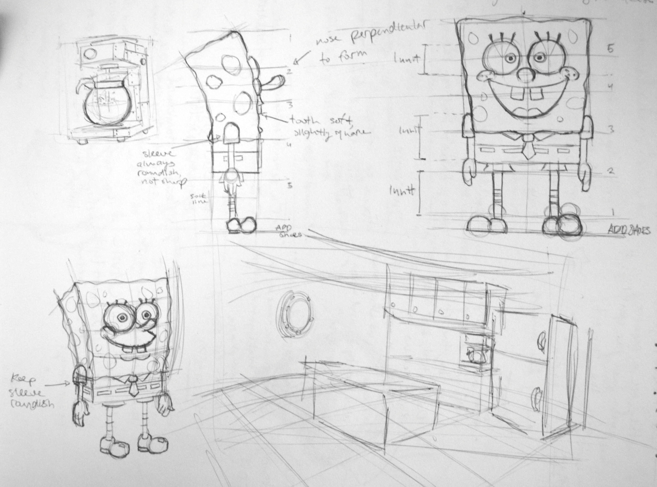 Spongebob Character Sheet