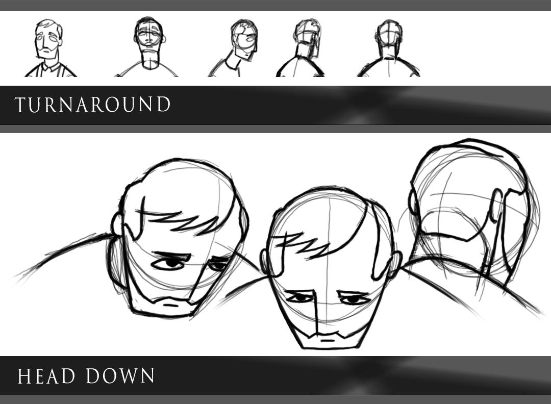 Facial character sheet