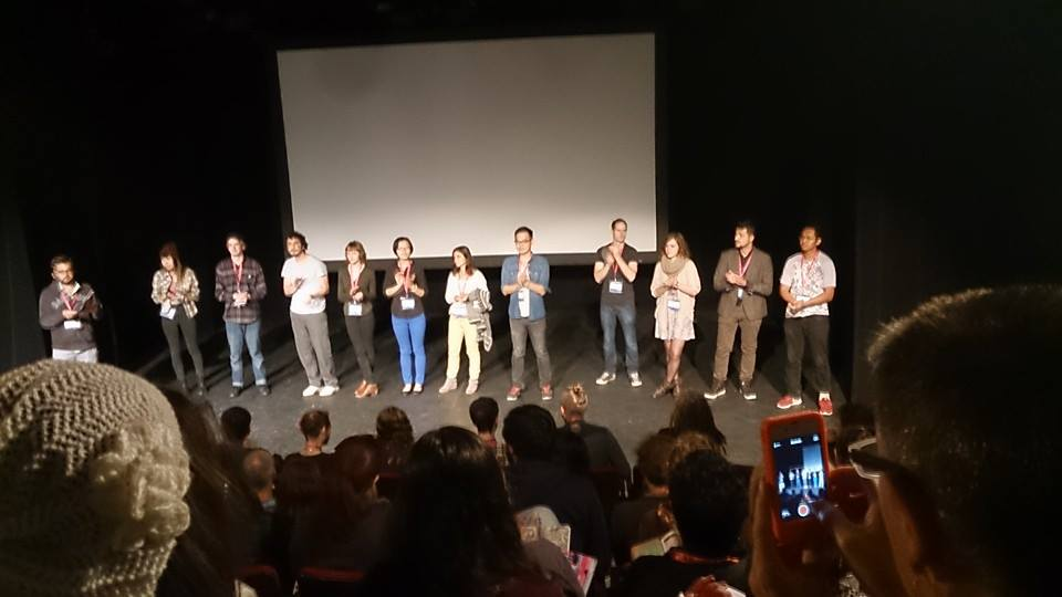 At the Canadian Student Showcase at OIAF on stage with the other filmmakers - I'm on the far right
