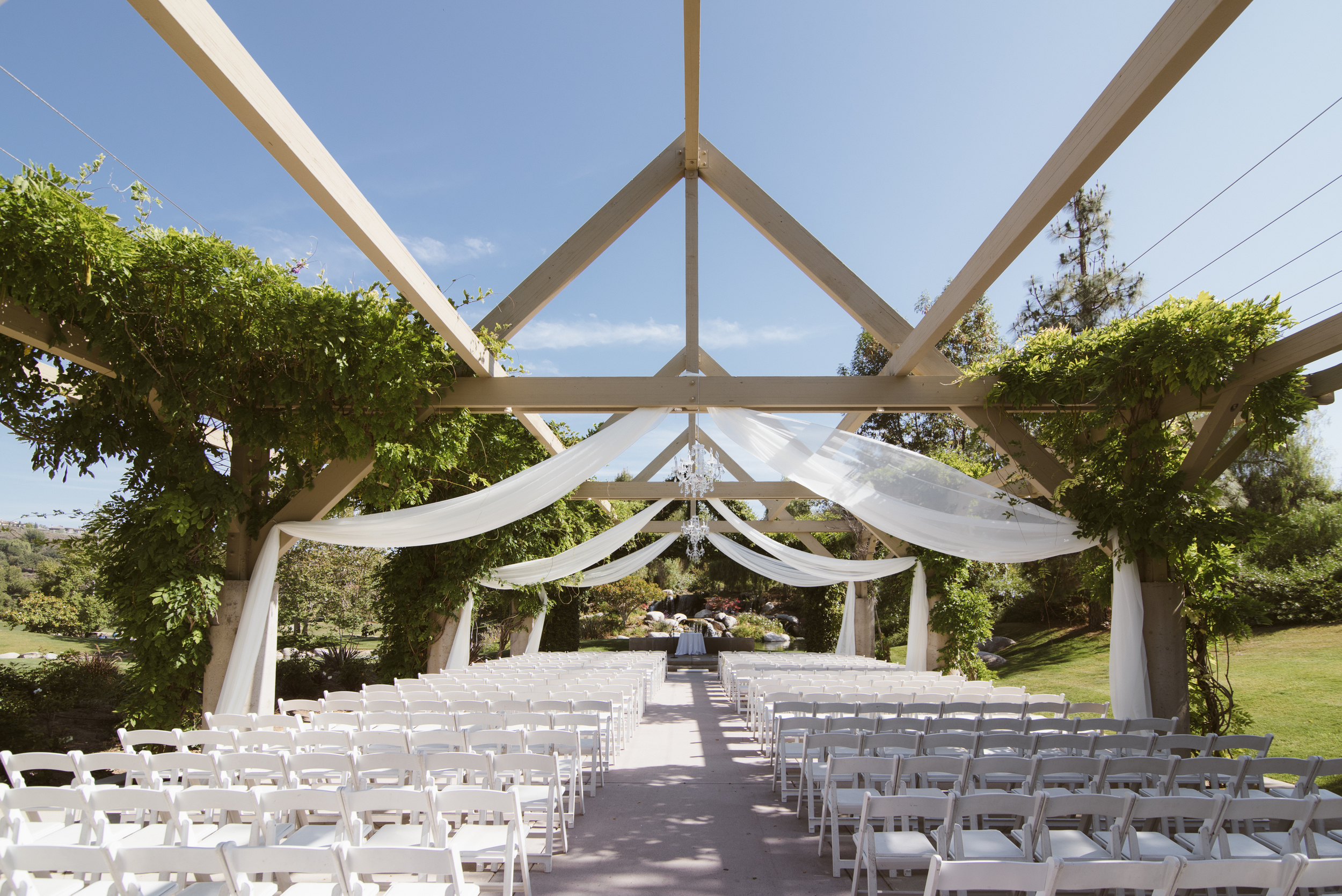 Coyote Hills Golf Course Wedding Pergola