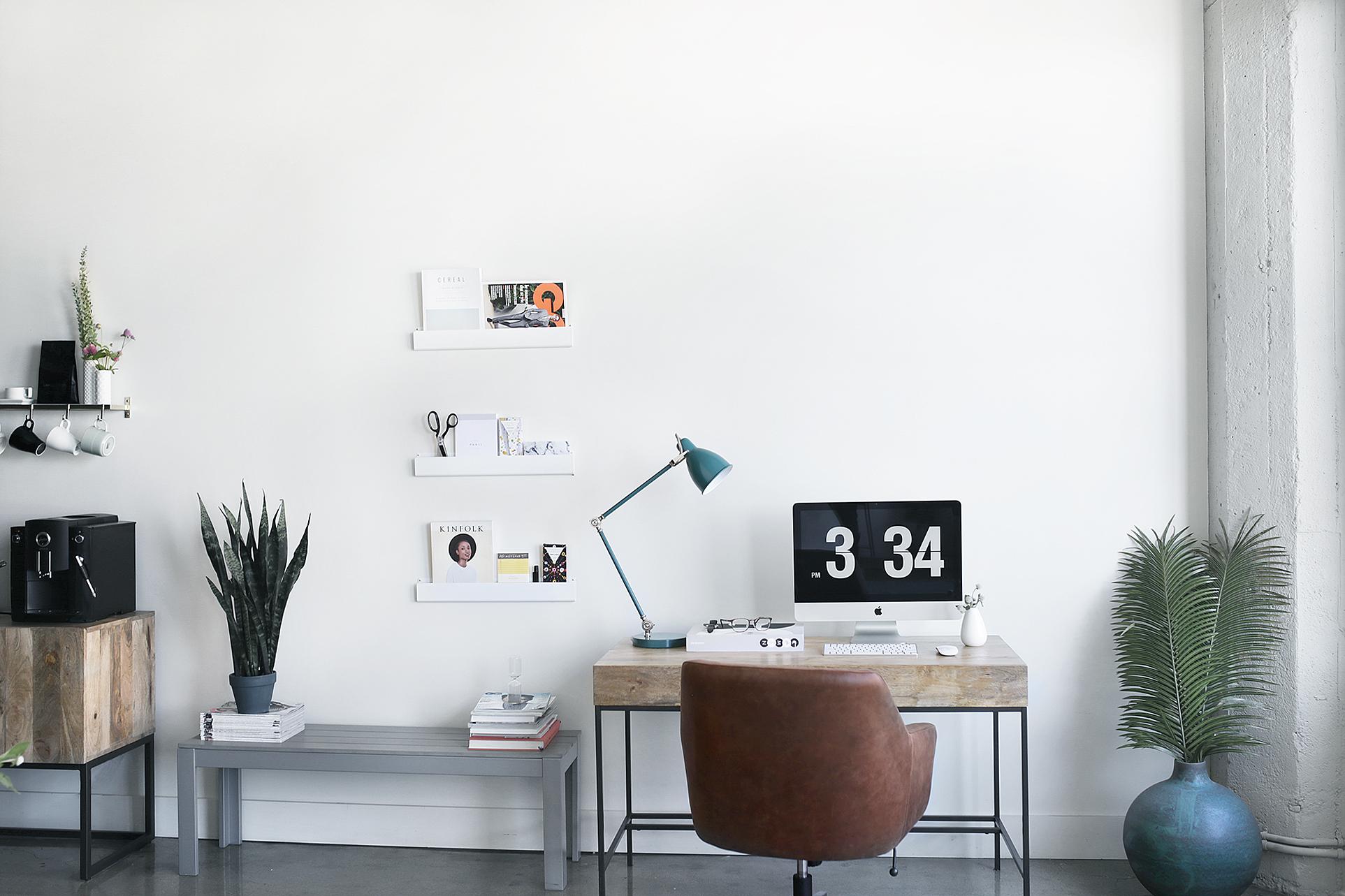 West Elm  Desk Chair ,  Desk ,  Lamp