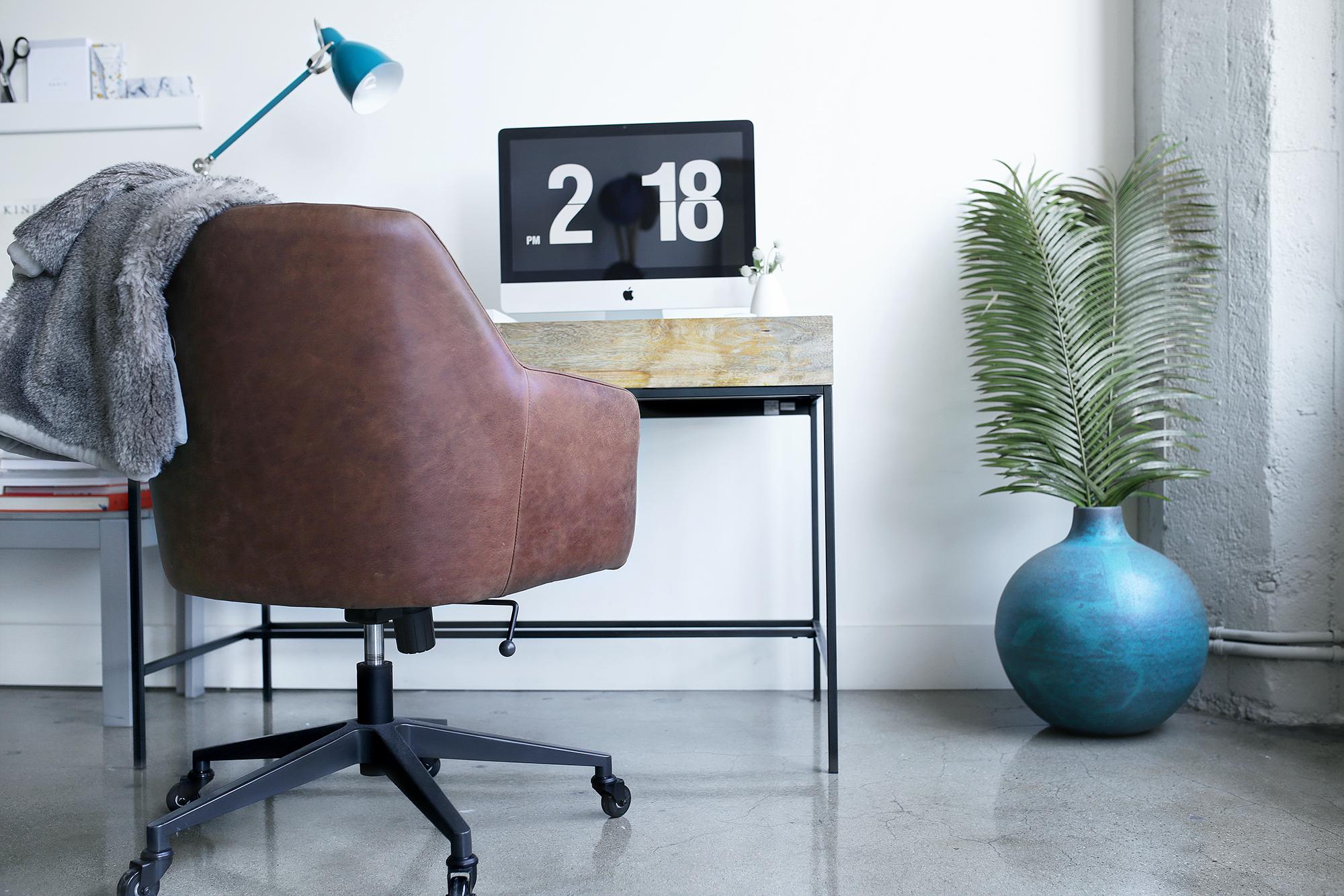 West Elm  Vase , Desk Chair , Desk