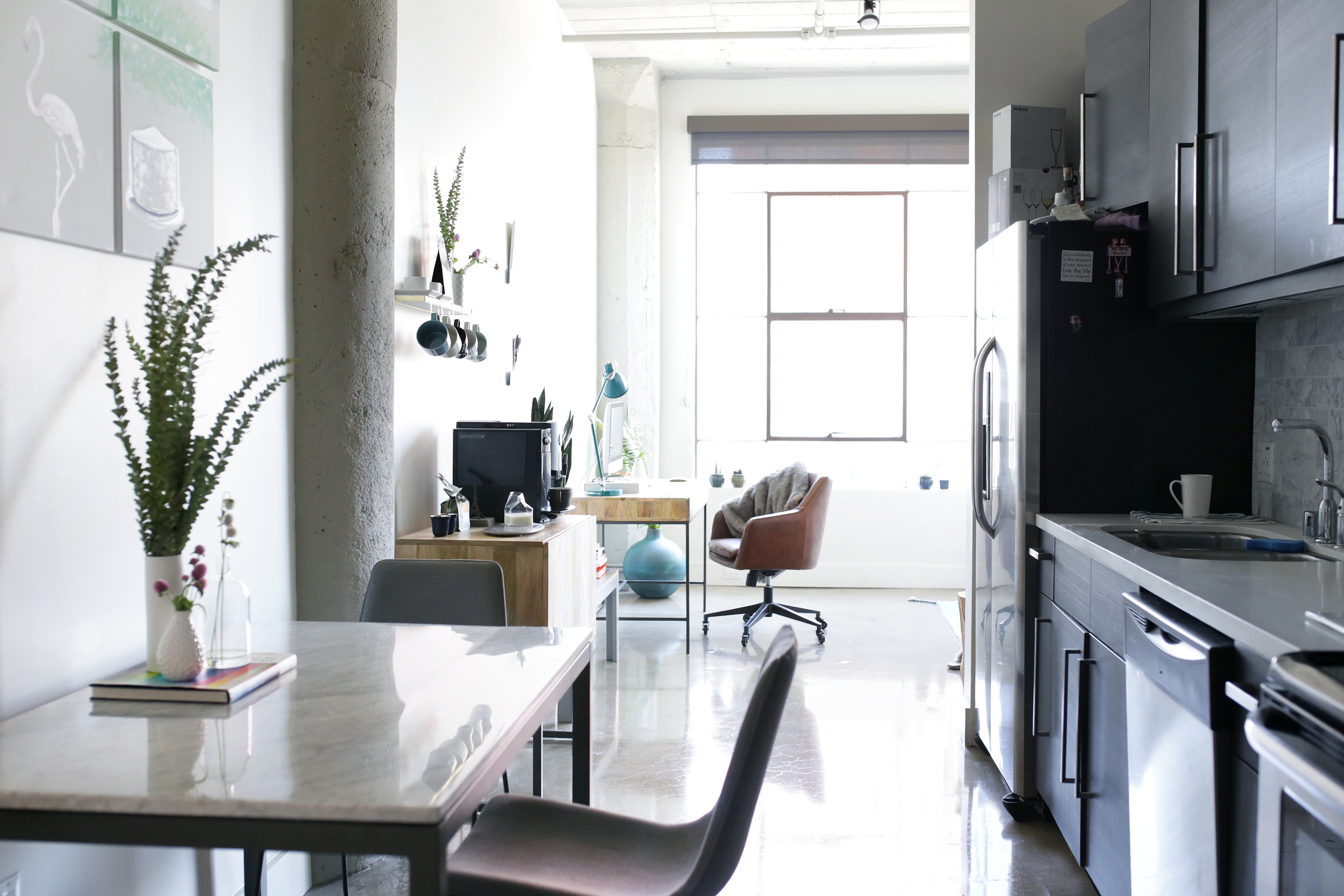 West Elm Dinning  Table ,  Chairs