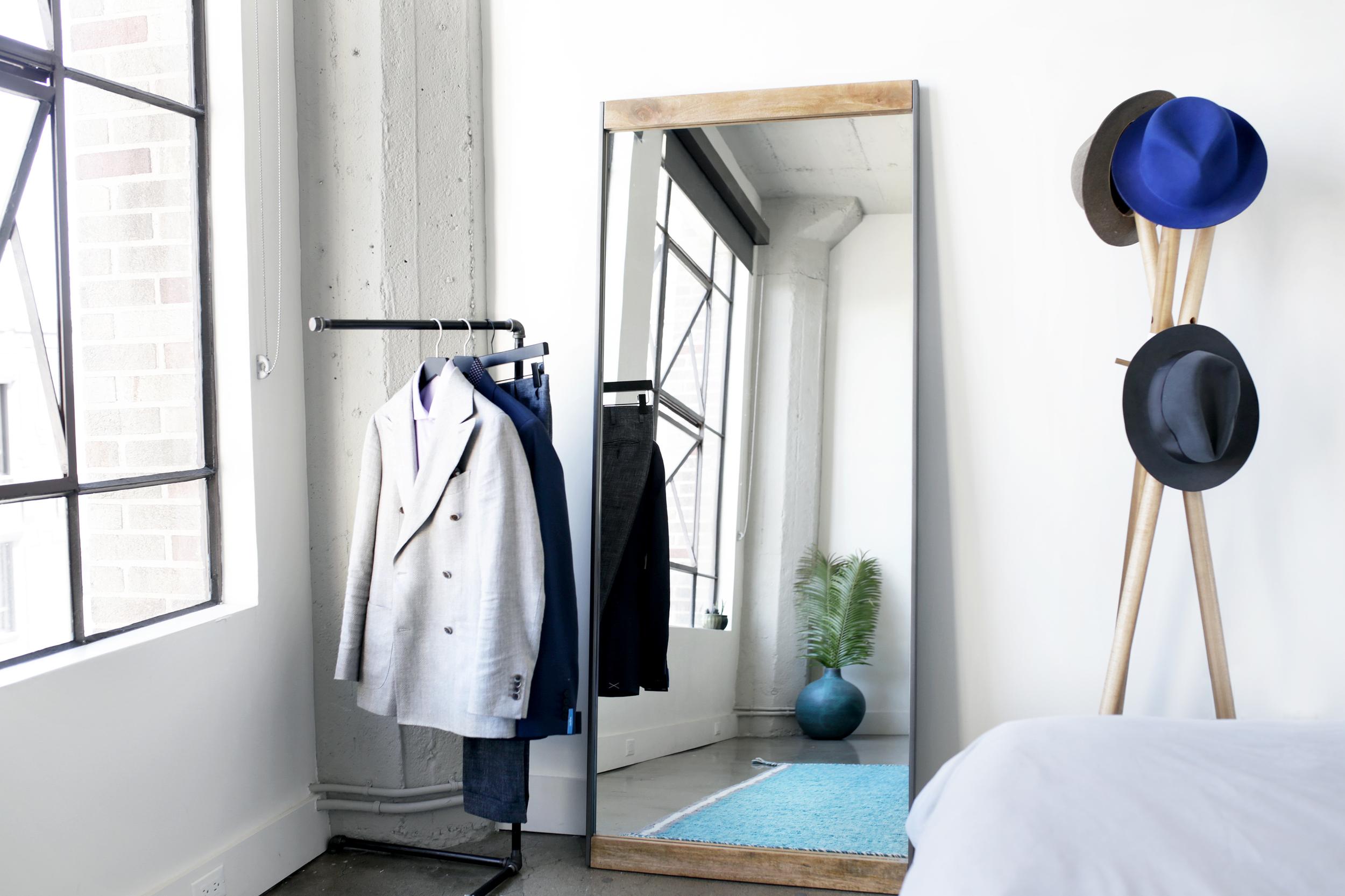 West Elm  Mirror ,  Clothing   Rack