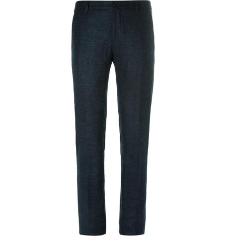 Blue Slim-Fit Mélange Alpaca-Blend Trousers.jpg