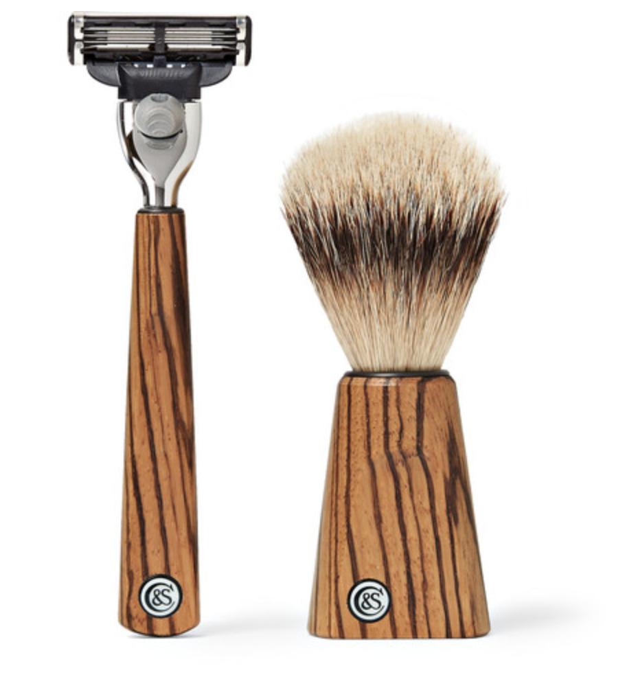 Czech & Speake - Zebrano Wood Shaving Set - Brown