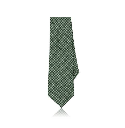 Alexander Olch Men's Gingham Brushed Cotton Necktie