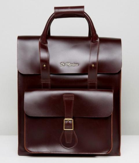 Dr Martens Leather Backpack - Brown