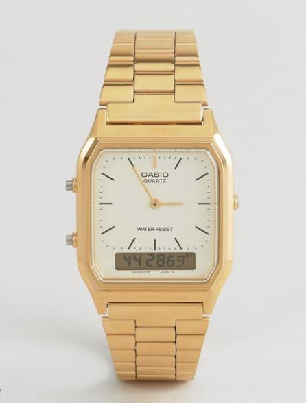 Casio Digital Bracelet Watch - Gold