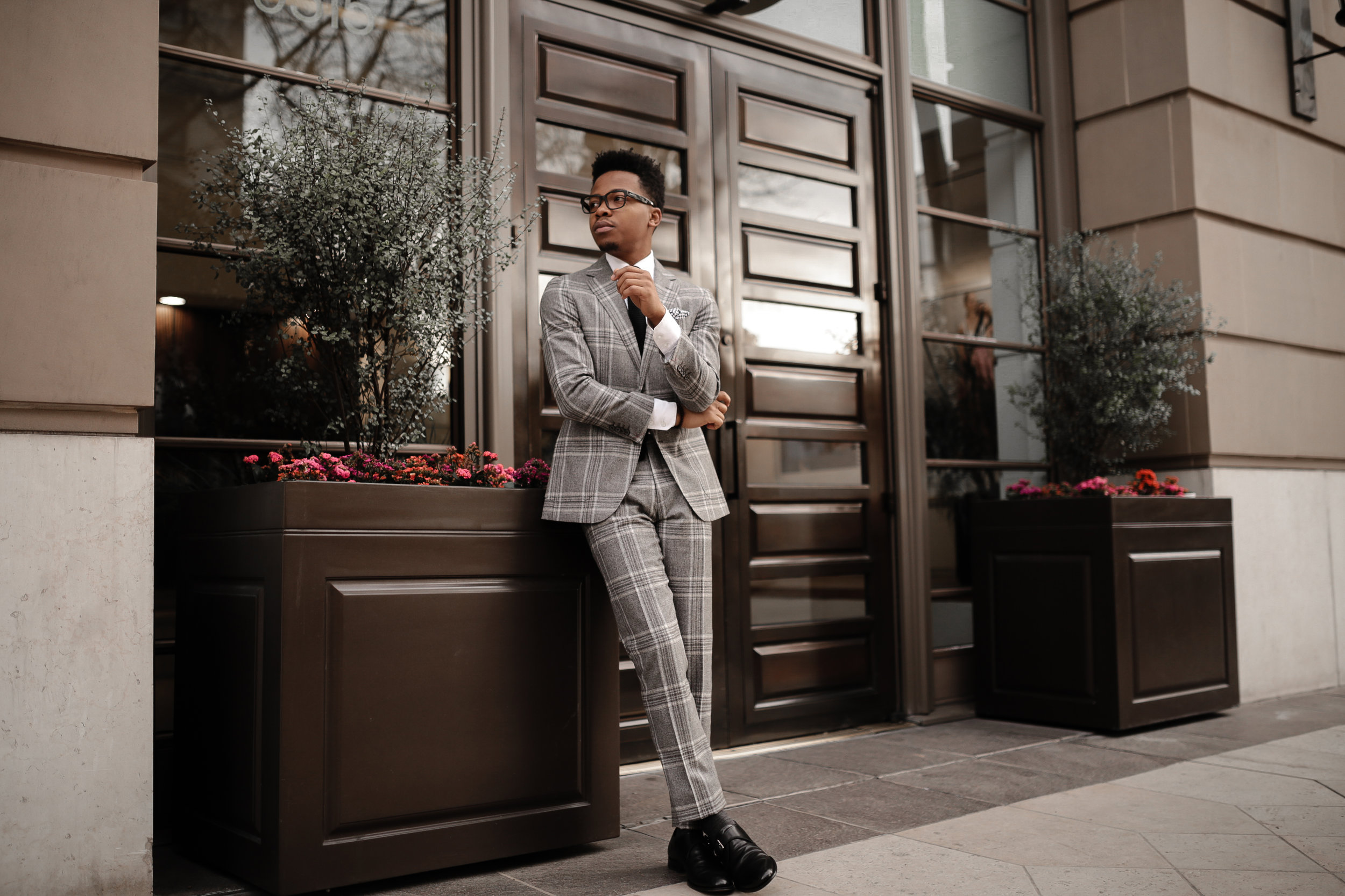Suit by SUITSUPPLY ( similar here ),Shoes by  ToBoot NY