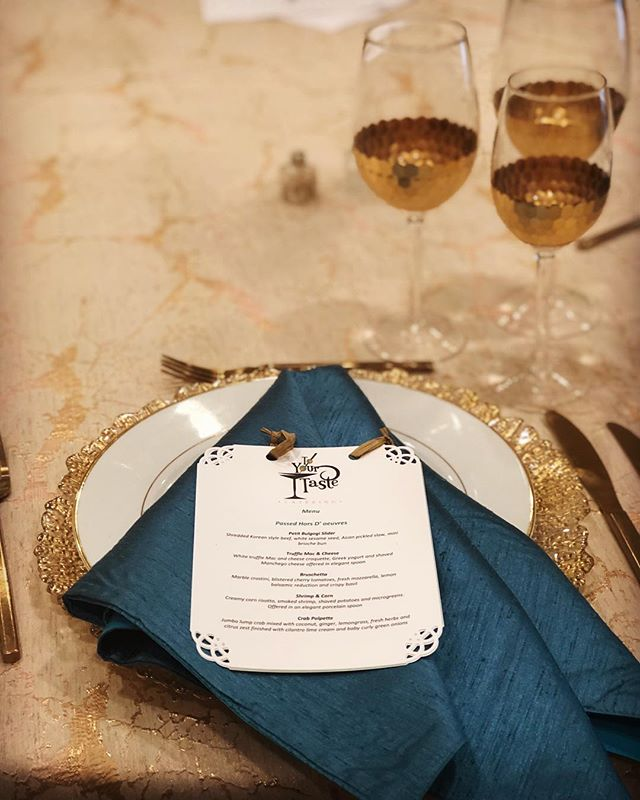 Ready for a tasting thank you @dcreventrentals for such beautiful linens and equipment 🙏 🍸 🍸 🍸 #wedding #weddingplanner #eventplanner #events #bride #groom #dccatering #catering #weddings #toyourtaste