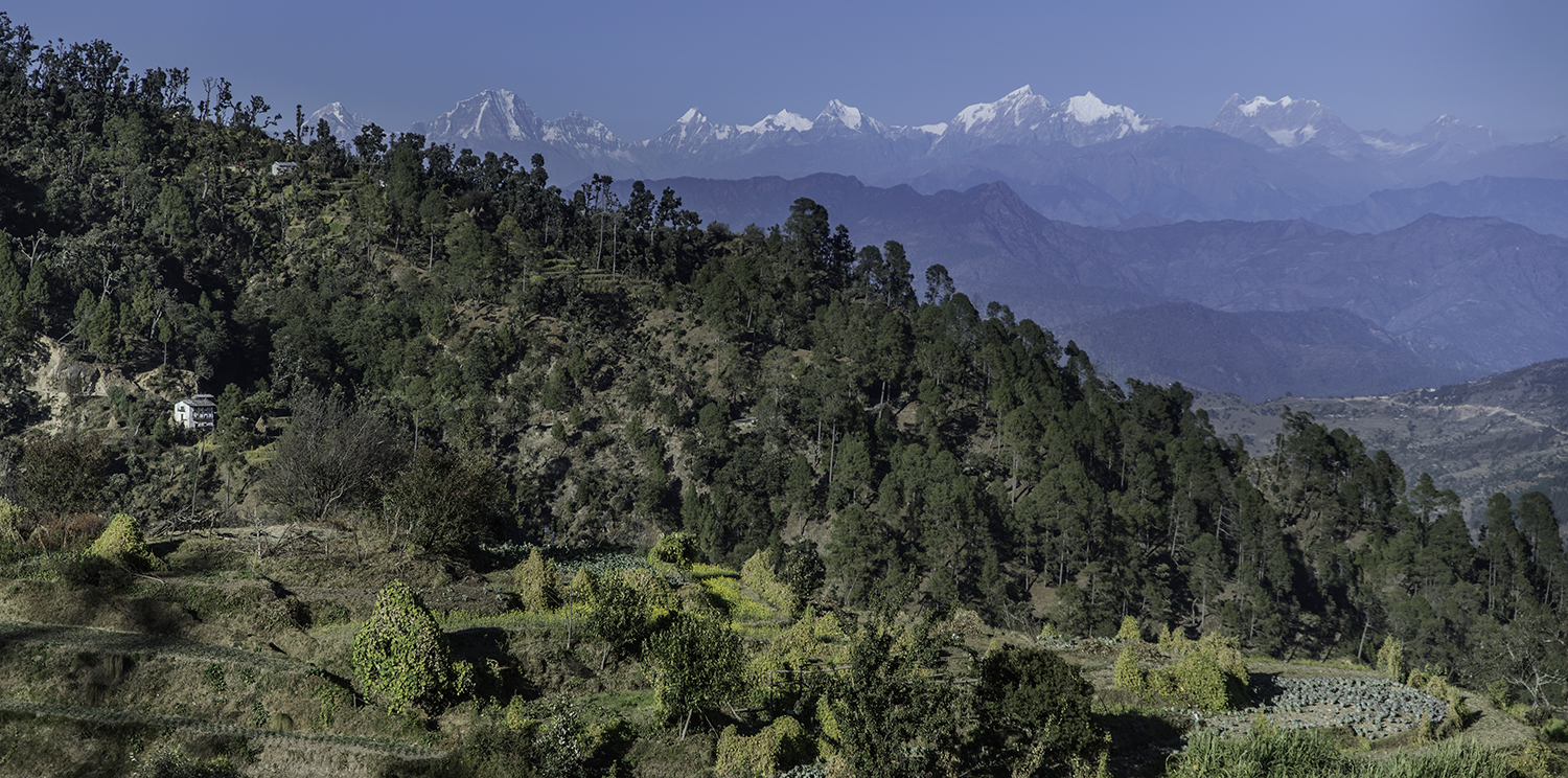 The view towards the north on the outskirts of Chawara Chautara.