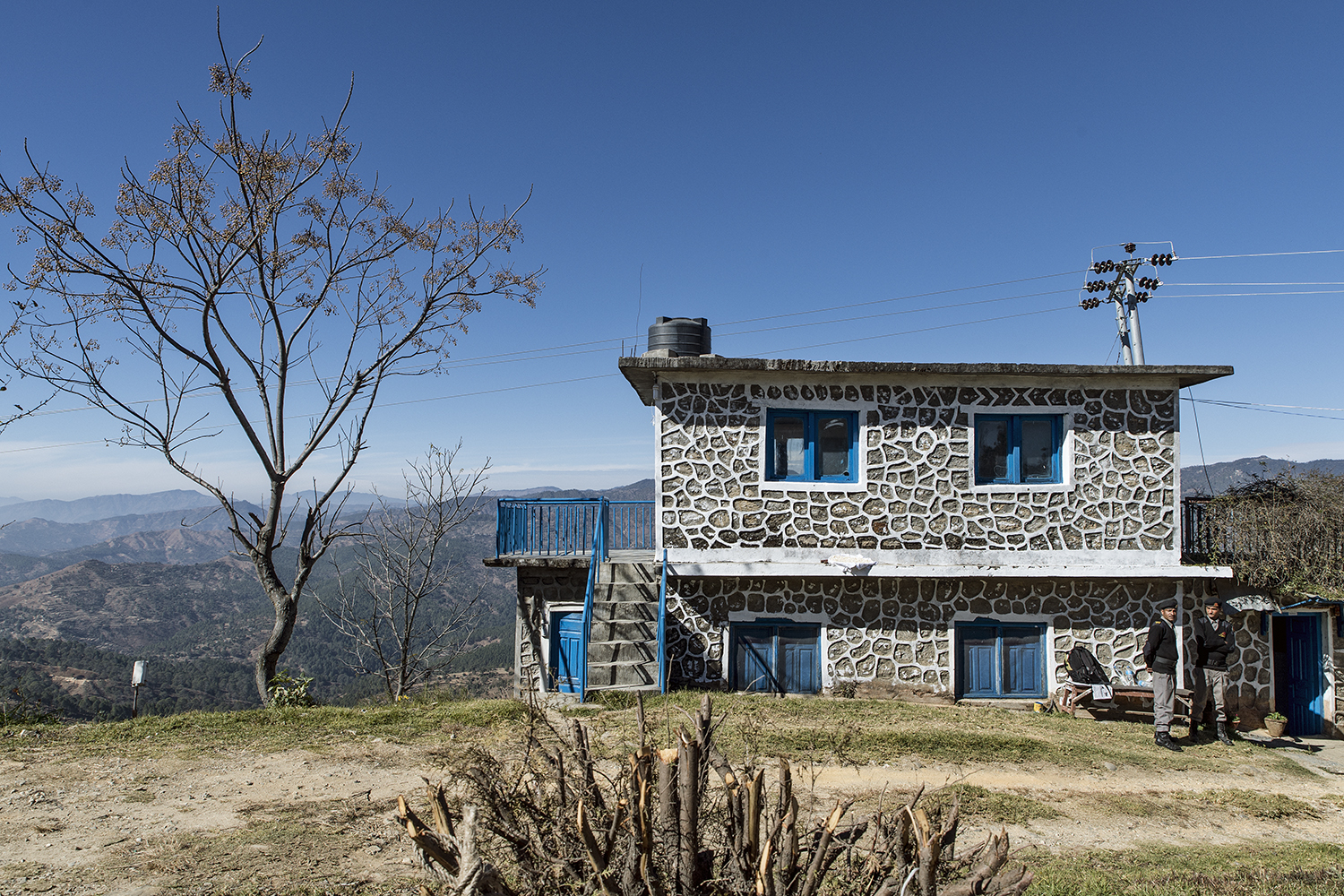 One of the several buildings at the RVWRMP-site in Dadeldhura.