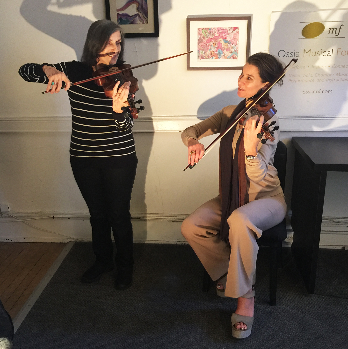 "Carol Kyros- Walker - ""I am so proud to have Carol as a violin student; her enthusiasm for the arts makes her a pure delight to teach. I sat down to interview her for a deeper look into her remarkable, accomplished life."" ~Nora Williams"