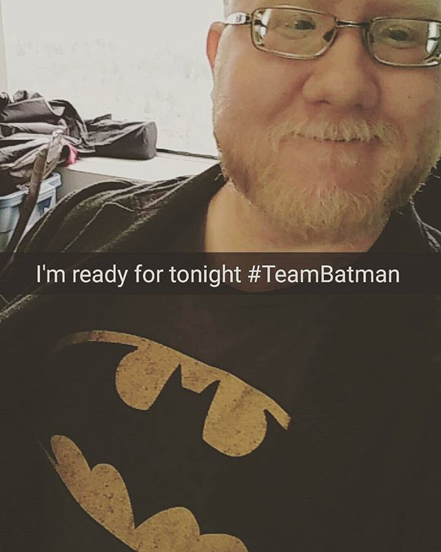 Family solidarity. My whole family has always been #TeamBatman since I was born thanks to my dad. I'm ready to see #batmanvsuperman tonight!