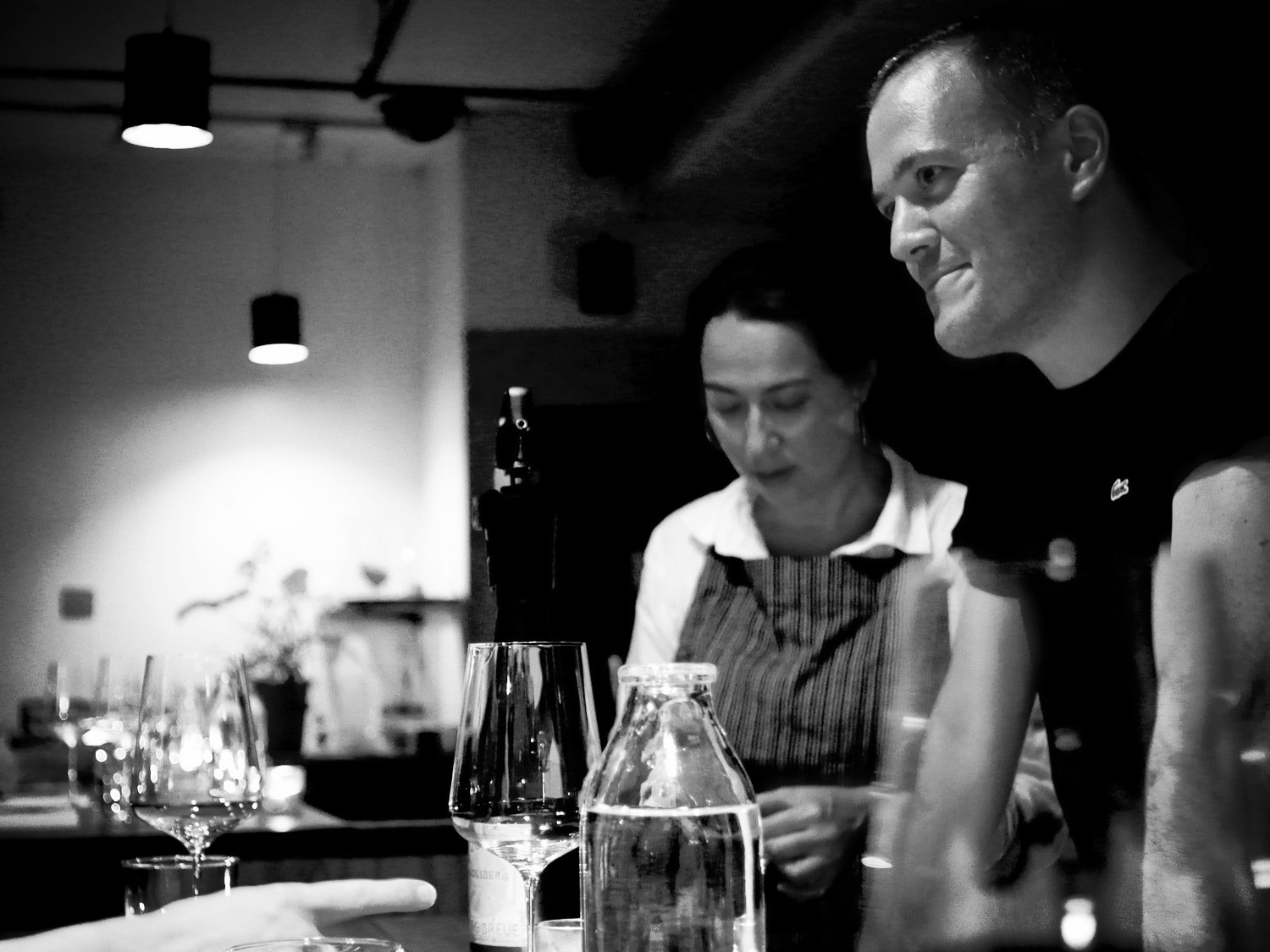 Trinie Thai-Parker & Luke Wohlers at the pop-up wine bar WALDEN