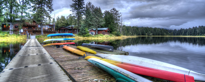 HDR landscape photo of the Fireweed Lodge Klawock, Alaska.