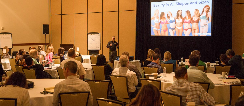 Genaro Guerra speaking at the Johnson & Johnson Mentor Worldwide 2015 National Training Meeting.