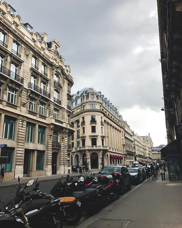 A rainy day in Paris.
