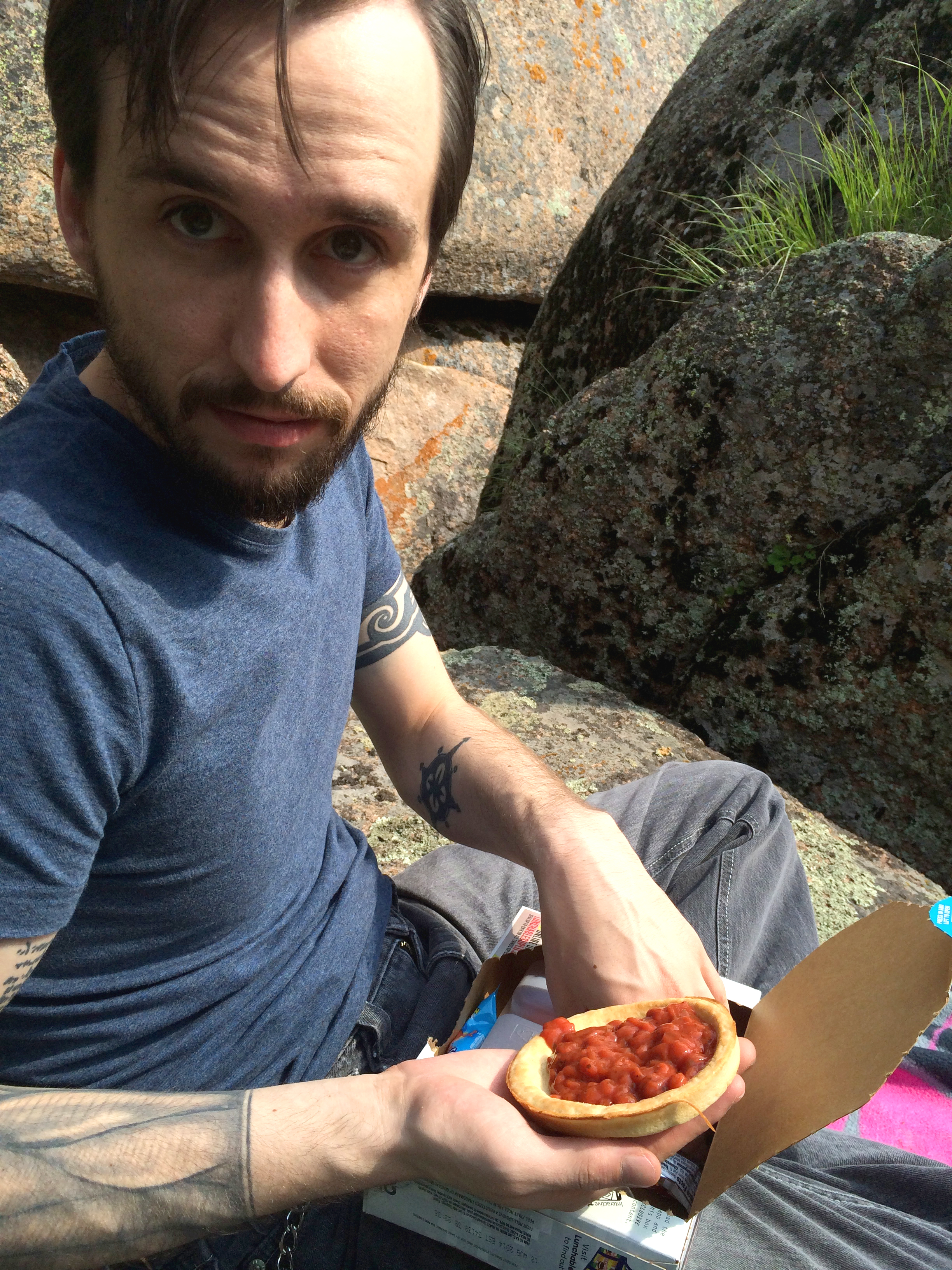 Real mountain men used to have to   hunt   their Pizza Lunchables. We're so lucky to be living in this day and age.