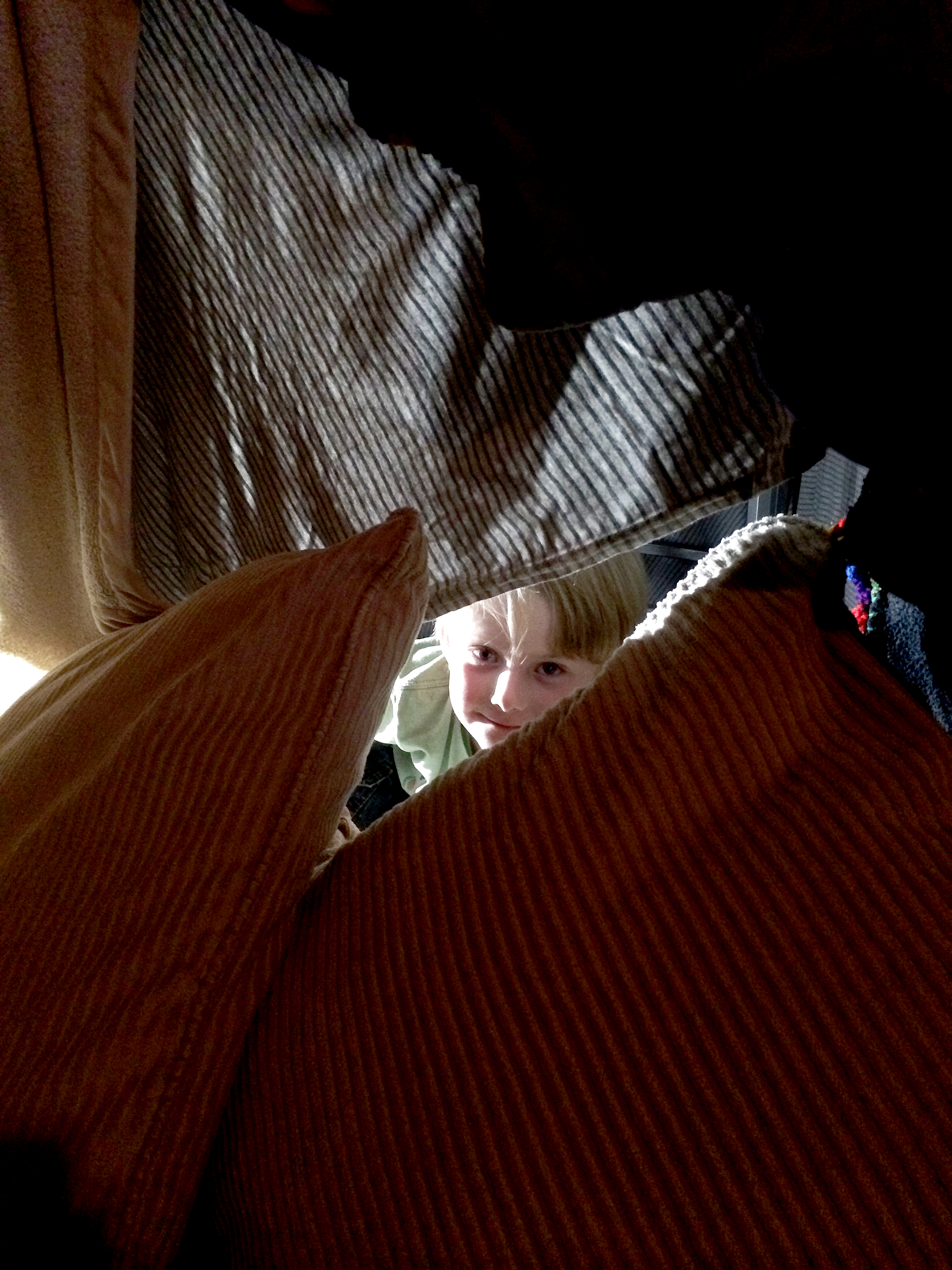 """""""Aunt Jennie, you have been chosen to hang out in my fort."""" What an honor!"""