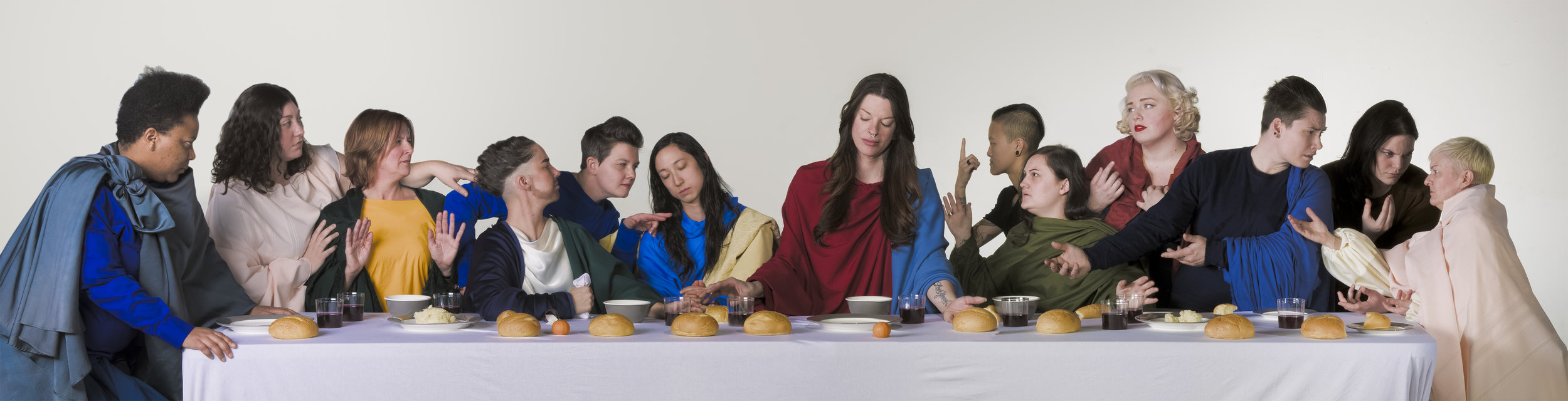 The Lesbian Last Supper. Part of Queering the Renaissance Photo Series