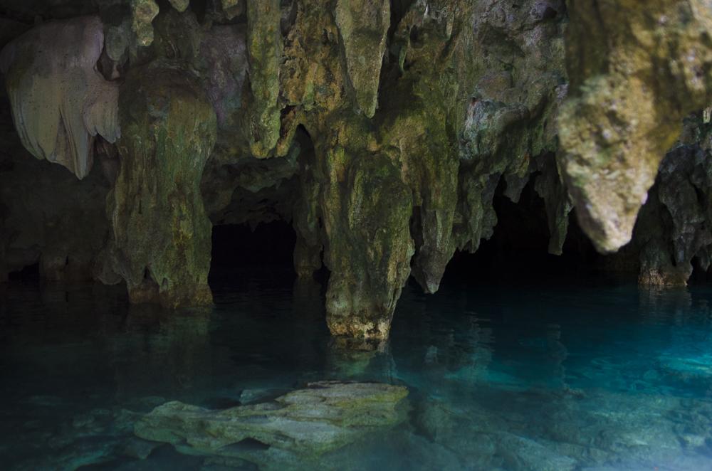 Underwater Caves. Tulum, Mexico