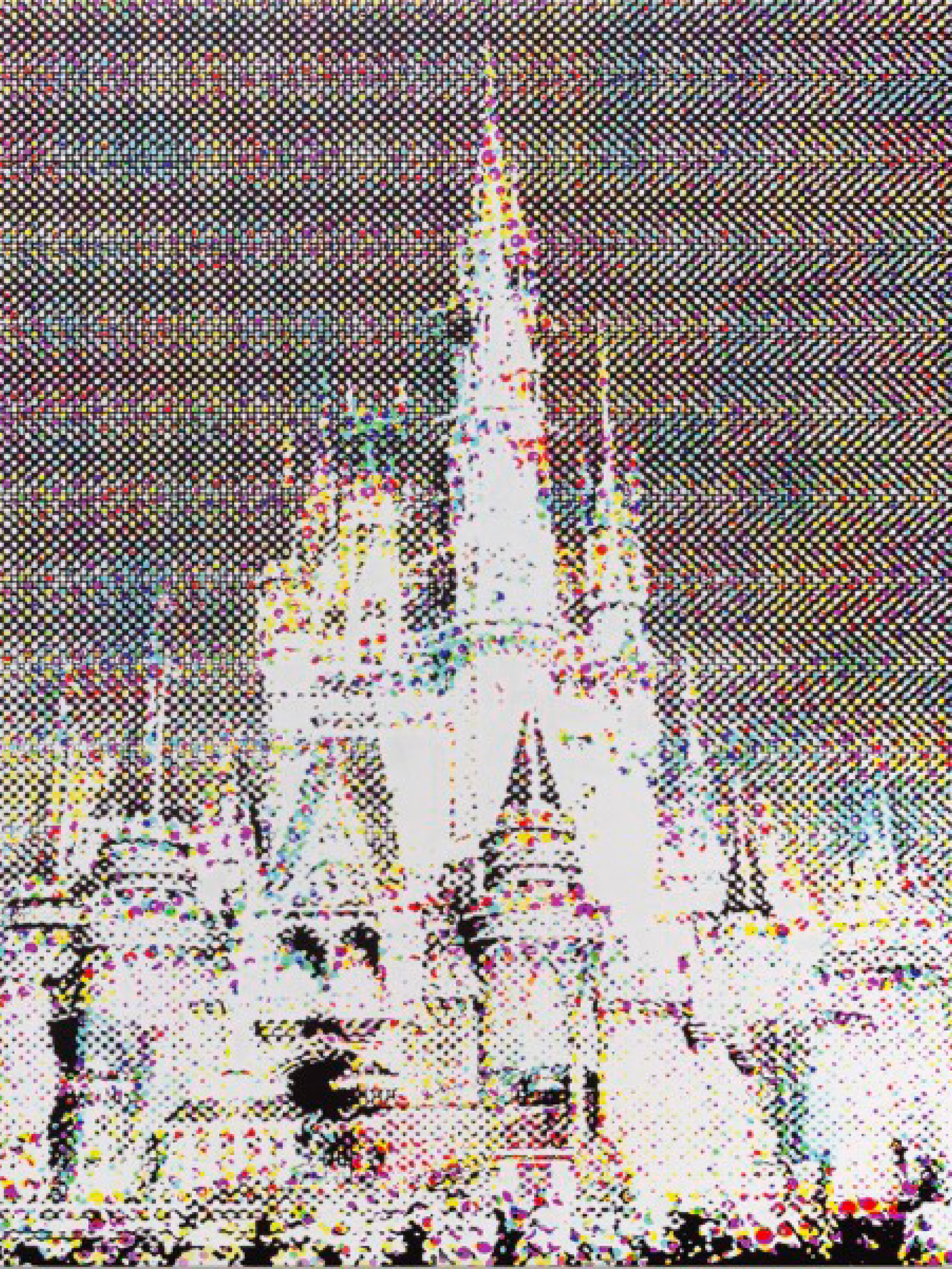 Disney Castle,The Summer of Love (2018) - Shelter Serra41 x 34 inchesArchival ink/paint on canvas