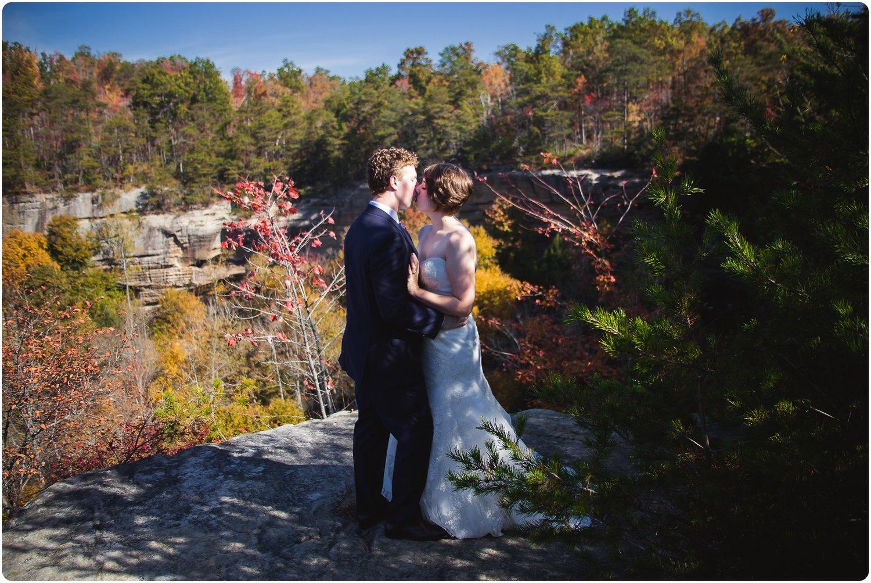 SAM & ASHLEY - RED RIVER GORGE WEDDINGFALL WEDDING