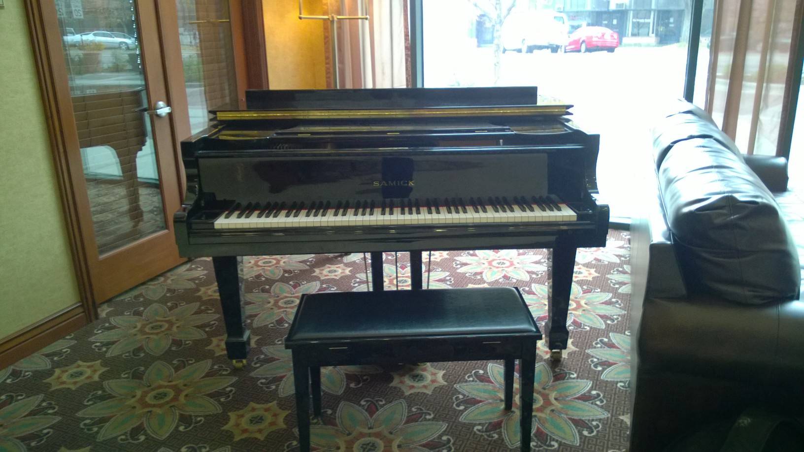 A pleasant surprise:  random piano in hotel lobby