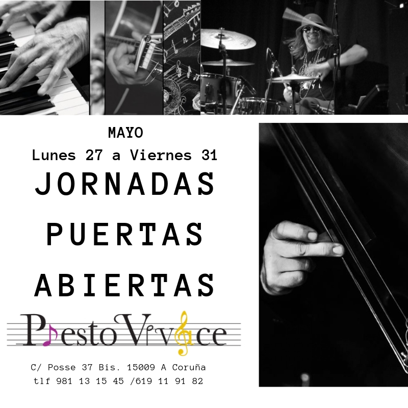 C/ Posse 37 Bis. 15009 A Coruña. Tlfs 981 13 15 45 / 619 1191 82  www.prestovivace.es                       info@prestovivace.es