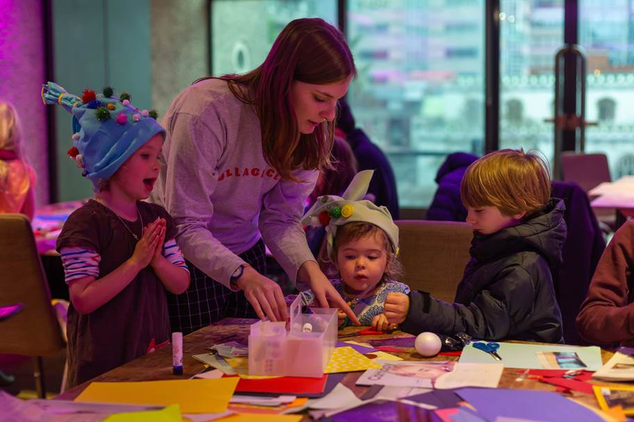 Collage Club Ldn, Let's Make Family Day, Barbican Centre, Photo by Catarina Rodrigues