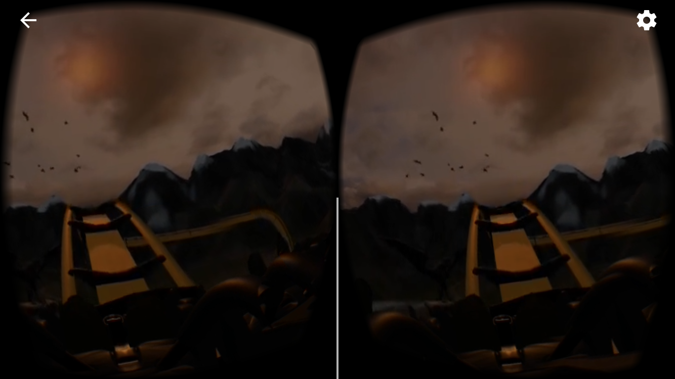 This is how the YouTube video will look like after you pressed on the Google cardboard icon.