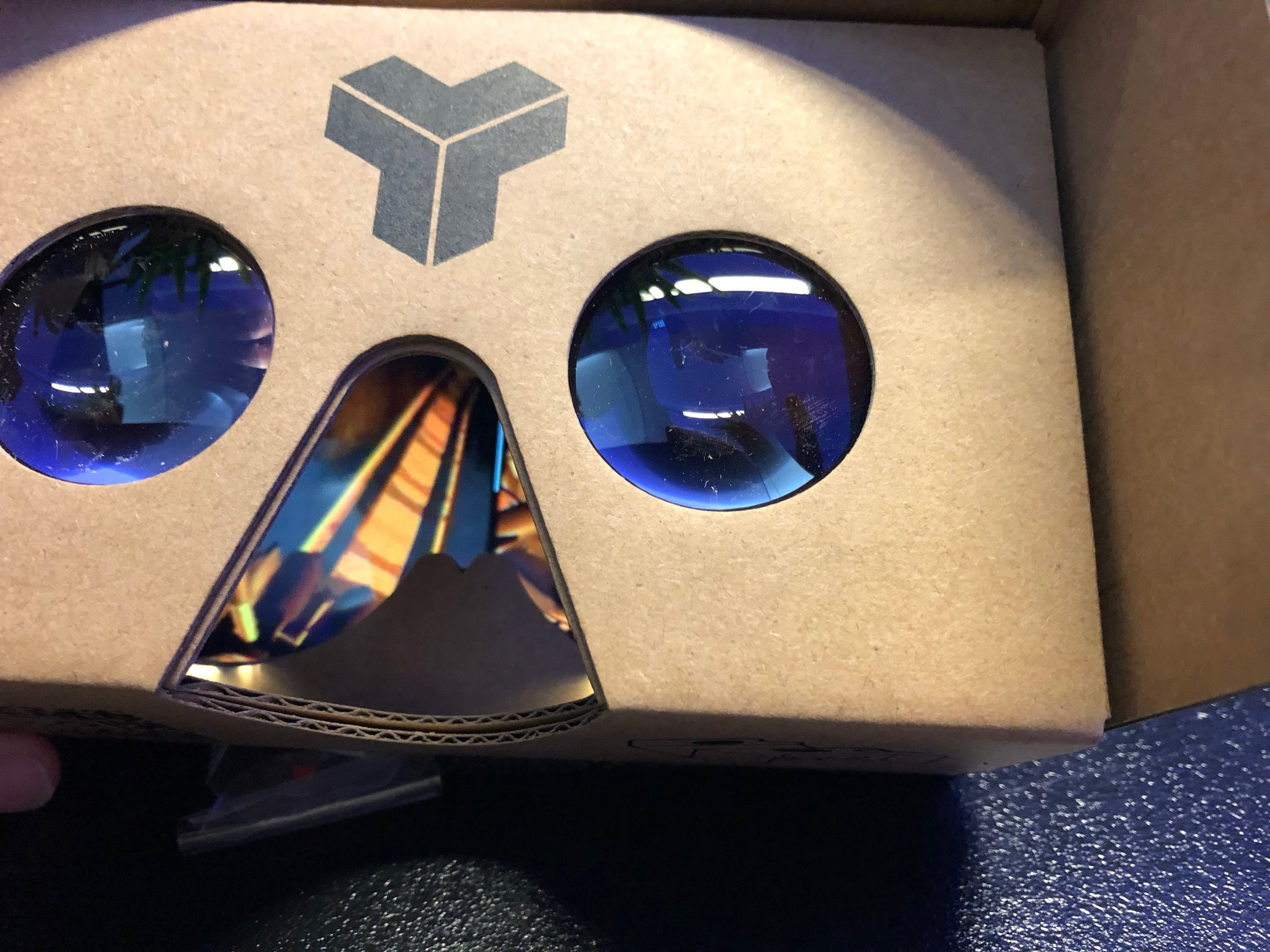 Put your Phone in your nice Cardboard glasses!