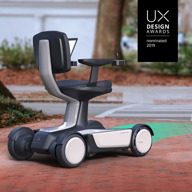 We are thrilled to have two projects nominated by UX Design Awards this year: the autonomous wheelchair with #goldenridgerobotics and the journey replay exhibition concept with #veoneer 🏅🎉👏