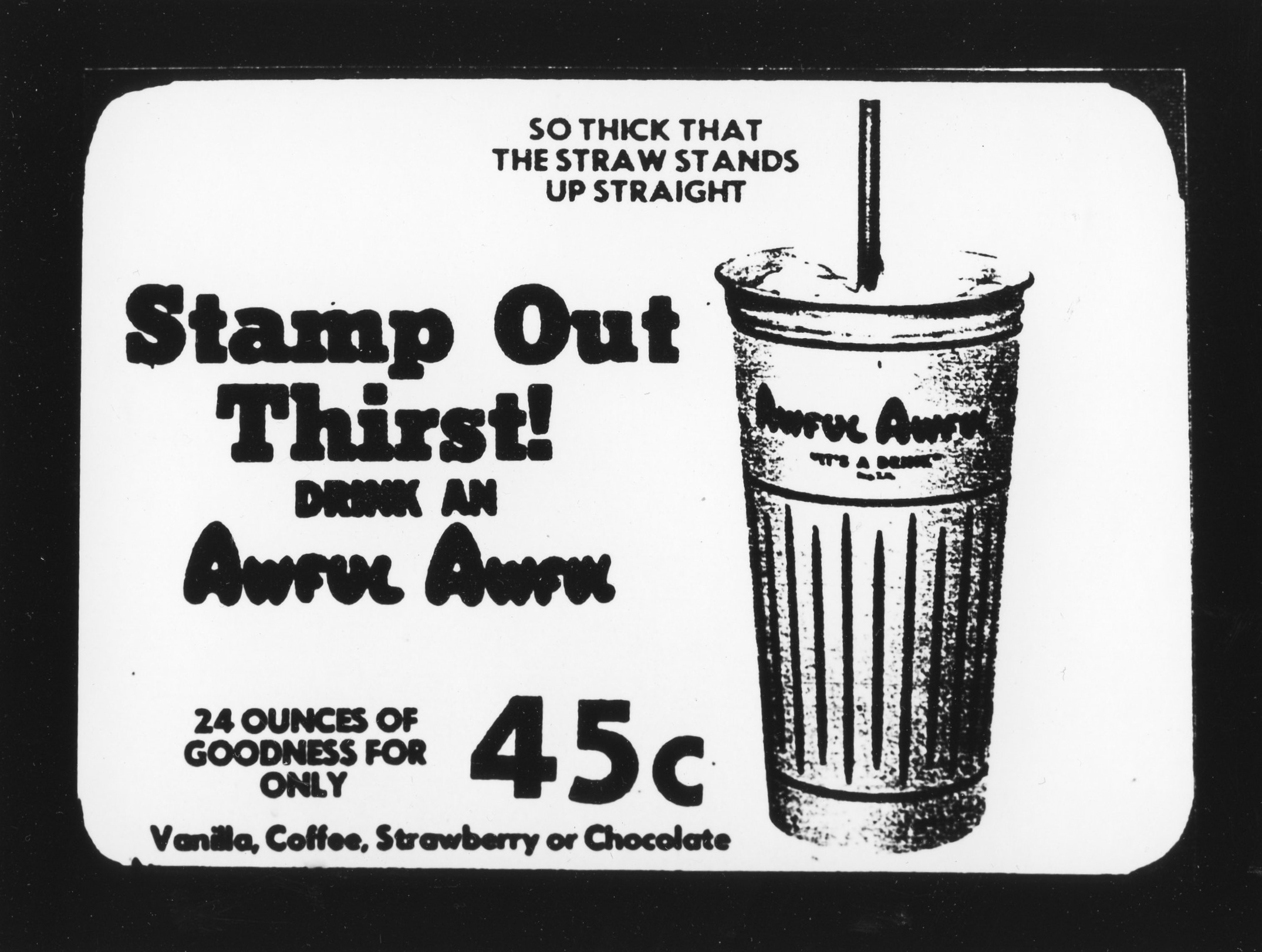 Stamp Out Thirst - Gelatin Silver Print