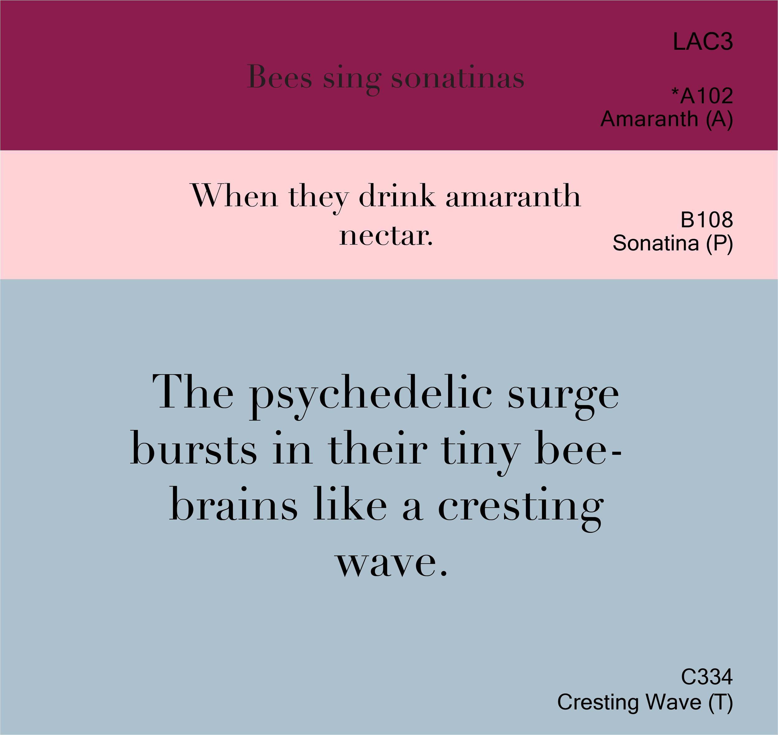 Amaranth, Sonatina, Cresting Wave III