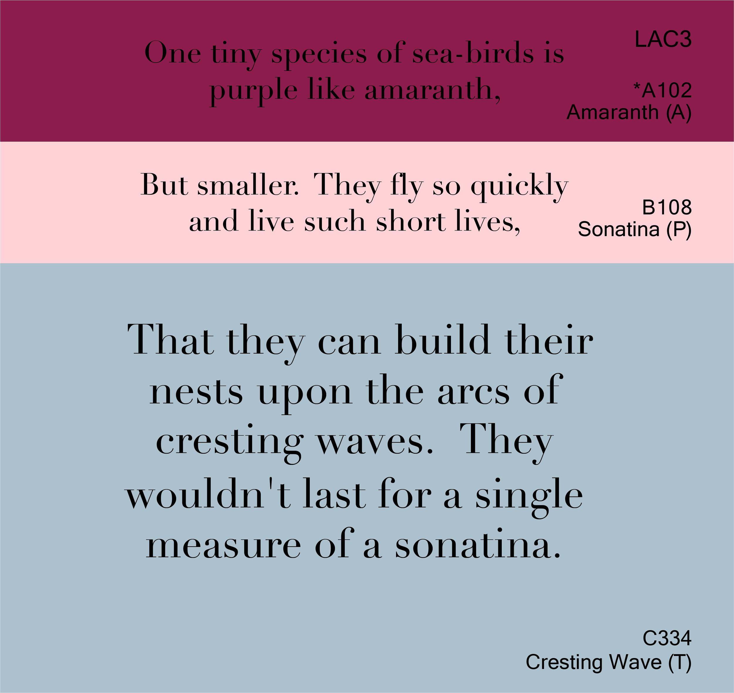Amaranth, Sonatina, Cresting Wave I