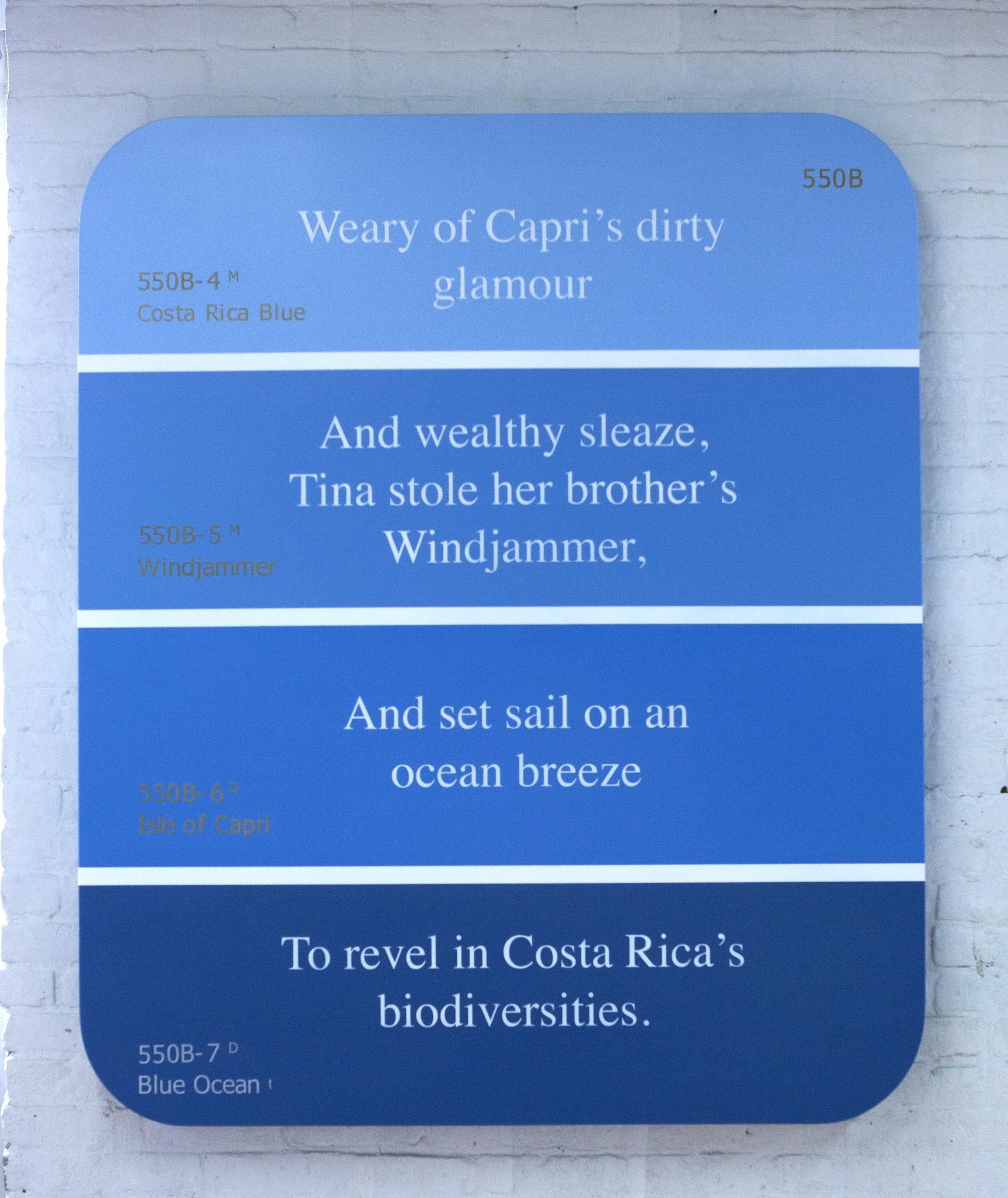 Costa Rica Blue, Windjammer, Isle of Capri, Blue Ocean